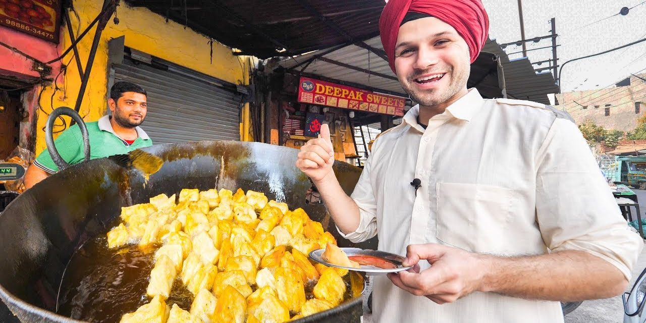 INDIAN STREET FOOD Tour DEEP in PUNJAB, INDIA   BEST STREET FOOD in INDIA and BEST CURRY HEAVEN!